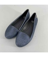Melissa Gray Blue Virtue Holiday Special Glitter Loafer Womens 5 or Kids 3 - $35.00