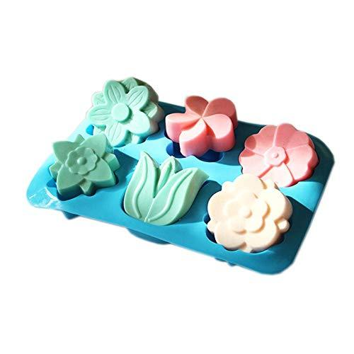 Primary image for 3Pcs 6 Cavity Tulip Flower Soap Mold Cake Mould Chocolate Mould Handmade Craft S