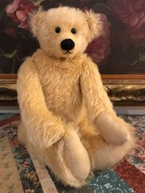 One of a Kind Artist Golden Humpback Mohair Bear 14 inch Fully Jointed - $241.70