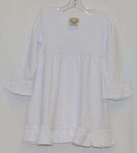 Blanks Boutique White Long Sleeve Empire Waist Ruffle Dress Size 18M