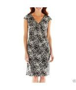 Black Label by Evan Picone Short-Sleeve V-Neck Dress Sizes 6, 8 Msrp $70.00 - $24.99