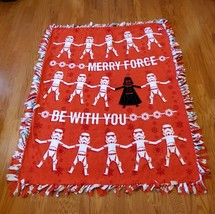 Star Wars Merry The Force Be With You Fleece Tie Blanket - $69.99