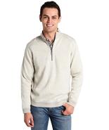 Tommy Bahama Flipsider Reversible Half-Zip Sweatshirt,Cloud Heather, Siz... - $59.39