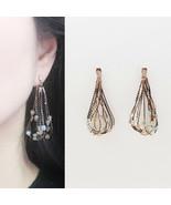 Multi Color Crystal Chandelier Drop Dangle Earrings Brass Silver 925 Ear... - $28.04
