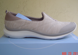 NEW EASY SPIRIT BEIGE WALKING COMFORT WEDGE SNEAKERS SIZE 8 W WIDE - €33,19 EUR