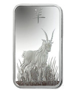 Set of 2 - Pamp 1 oz and 10 gram Silver Bars - 2015 Lunar Year Of The Goat - $43.99