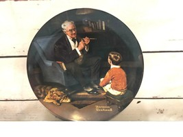 """Vintage Collector Plate Norman Rockwell """"The Tycoon"""" By Edwin M Knowles ... - $21.10"""