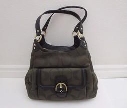 NWT Coach Campbell Moss Signature Metallic Hobo Shoulder Bag Handbag F26245 - $158.38
