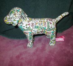 NEW Victoria's Secret VS Doodle GRAFFITI Mini DOG Happy HEART Love STUFF... - $23.86