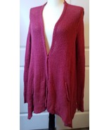 FREE PEOPLE RED SHARK BITE CARDIGAN, SIZE SMALL  - $44.00