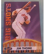 1998 Fleer Ultra Big Shots Cleveland Indians Baseball Card #12 Jim Thome - $1.00