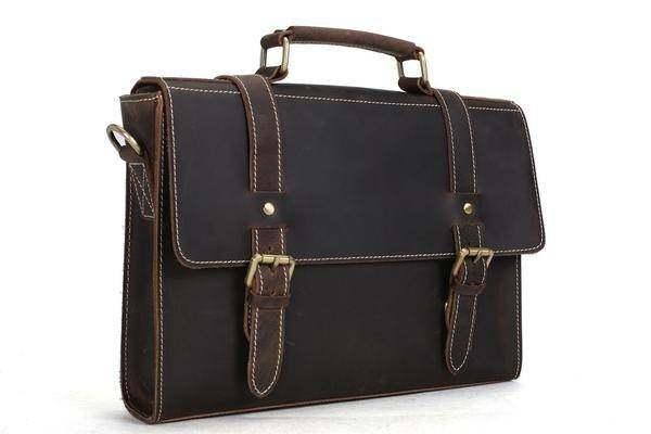 Sale, Vintage Leather Briefcase, Messenger Bag, Satchel Bag, Crossbody Bag image 2
