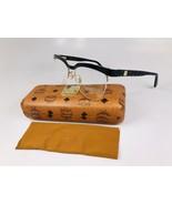 MCM Eyeglasses MCM2102 004 Black & Black Visetos 53mm w/ Case & Cloth - $59.35