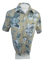 EXPRESS Men Hawaiian ALOHA shirt pit to pit 26 L camp luau floral paisle... - $17.81