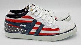 GOLA Comet Nations Plimsoll Trainer - White/ USA Theme - Mens 13 - NEW A... - $51.41
