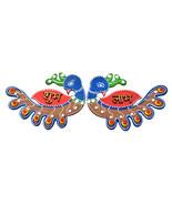 Rajasthani Door Decor Multicolour Peacock Shape Shubh Labh Diwali Door H... - $12.95