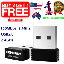 Wireless Mini USB Wifi Adapter 802.11N 150Mbps Network Dongle Windows MA... - $9.49