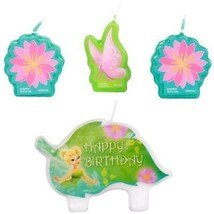 Tinker Bell Cake Topper Molded Set of 4 Candles Tinkerbell Birthday Part... - $4.70