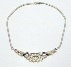 TRIFARI Patent Pending Clear Rhinestone Phillipe Silver Tone Choker Necklace - $74.25