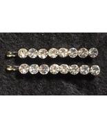 2 Small Rhinestone Hair Clips Bobby Pins Bridal Wedding Prom Pageant Ele... - $29.95