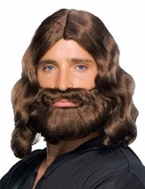 Biblical Beard and Wig and Moustache Sets Brown or Grey Better Quality  Rubies - $19.95