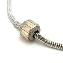 Swarovski European Fit Bracelet Charm Stainless BeCharmed Pave Baguette Crystal image 5