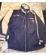 Reebok Men's  Los Angeles LA Rams Navy Blue/Gold Coat Jacket Size Large  - $41.14