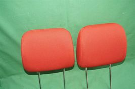 10-13 Kia Soul Front Cloth 2 Headrests Headrest Set RED image 3