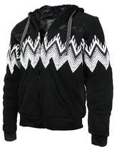 EKZ Men's Graphic Geo Tribal Fleece Lined Zip Up Sherpa Hoodie Jacket image 8