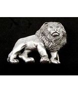 Lion Pewter Belt Buckle by KEV Made in USA 6514 Old New Stock - $58.98