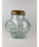 Antique Elephant Glass Jar With Cork Made in Italy - $98.99