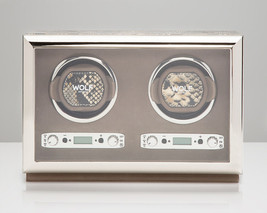 WOLF 2.7 Exotic Double Automatic Watch Winder Battery Operated Tan Dual Motor - $949.00
