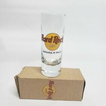 Hard Rock Cafe Shot Glass Niagara Falls Canada Classic Logo maple leaf w/ box - $9.99