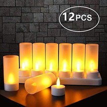Flameless Candles with Rechargeable Base Led Candles Flickering LED Tea ... - $32.93
