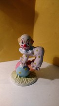 "Circus Clown Porcelain Figurine Lefton 1984  4 1/4"" Tall 2 1/2"" Base - $10.00"