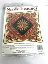 NEEDLE TREASURES Needlepoint Kit Harvest Gold Pillow 12 x 12 JCA Vintage... - $49.49