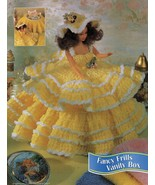 "3X Barbie 11-1/2"" Doll Angel Frills & Ruffles & Bows Trinket Box Crochet... - $12.99"