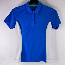 Nike Golf Fit Dry Womens Sz Medium Blue White Active Quarter Zip Polo Sh... - $19.76