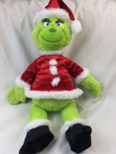 Build A Bear BAB Dr Seuss Grinch The Movie 2018 Stuffed Plush With Sound Box