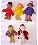Lot Of 5 TY Attic Buddy Bear Gordon Gem Samuel Isabella Teddy Bear Plush... - $129.99