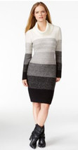 Calvin Klein Womens Striped Ombre Cowlneck Knit Sweater Dress XLarge $130 - $56.99