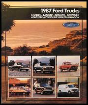 1987 Ford Truck Sales Brochure F-150  Ranger Bronco Van - $6.49