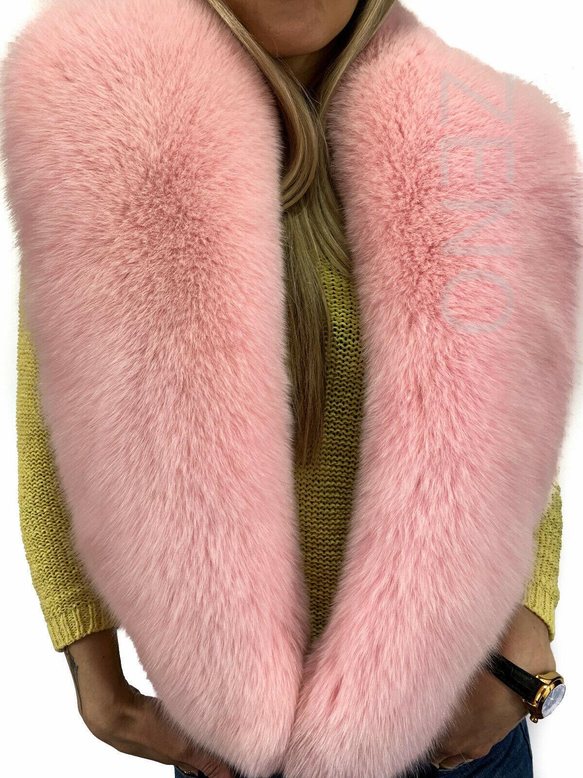 for whole family unique design another chance Arctic Fox Fur Stole 63' (160cm) Saga Furs Boa Light Pink Fur ...
