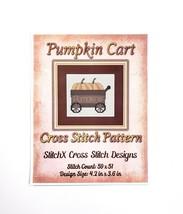 "Pumpkin Cart Cross Stitch Pattern StitchX Design Size 4.2"" x 3.6"" Autumn... - $9.74"