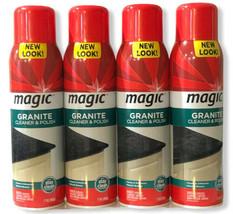Magic Granite Cleaner & Polish Aerosol 17 oz Discontinued Marble Stone Lot Of 4 - $88.98