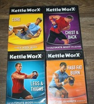 "Kettle Worx Core Fitness workout DVD ""the six week body transform"" + 3 M... - $18.80"