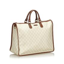 Pre-Loved Gucci White Ivory PVC Plastic GG Handbag Italy - $452.54