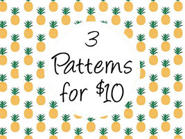 Modern Cross Stitch Patterns - Any 3 Patterns f... - $10.00
