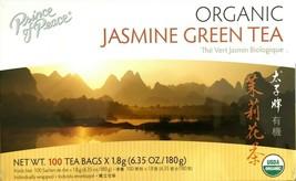 1 Box, Prince of Peace 100% Organic Jasmine Green Tea 6.35Oz/180g - 100 Tea Bags - $10.18