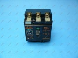 Fuji EA33-20 Circuit Breaker 3 Pole 20 Amp 220 VAC 1 Year Warranty - $11.99